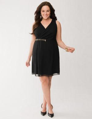Chiffon zipper dress