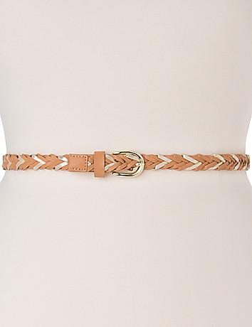 Braided skinny belt