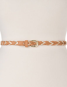 Braided skinny belt by LANE BRYANT
