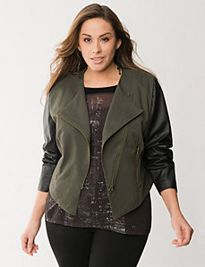 Asymmetric army jacket by LANE BRYANT