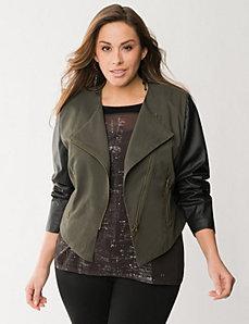 Asymmetric army jacket