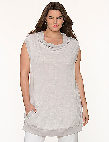 Cowl sweatshirt tunic by DKNY JEANS