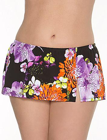 Floral swim skirt