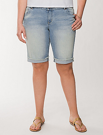Genius Fit raw cuff Bermuda short