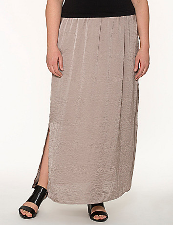 Lane Collection hammered satin maxi skirt