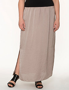 Lane Collection hammered satin maxi skirt by LANE BRYANT