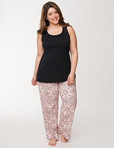2-piece medallion print sleep set by LANE BRYANT