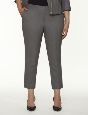Straight fit bird-eye ankle pant