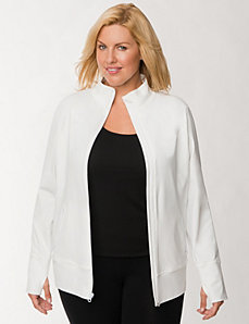 TruDry zipped active jacket by LANE BRYANT