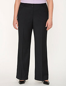 Lena Tailored Stretch pinstripe pant by LANE BRYANT