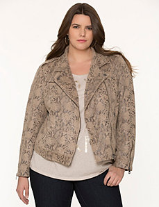 Snake print moto jacket by DKNY JEANS