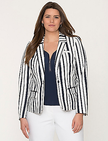 Striped suit jacket