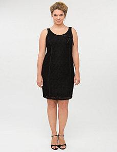 Sleeveless lace dress by Isabel Toledo
