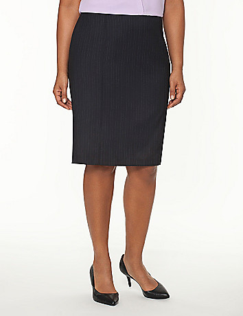 Tailored Stretch pinstripe pencil skirt