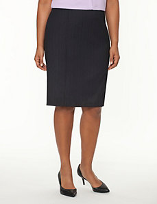 Tailored Stretch pinstripe pencil skirt by LANE BRYANT