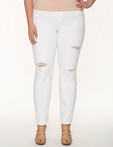 Destructed Mercer skinny jean by DKNY JEANS