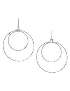 Sterling silver double hoop earrings by Lane Bryant