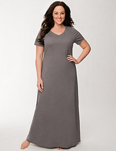 Slub sleep maxi by LANE BRYANT