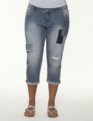 Patchwork weekend capri jean