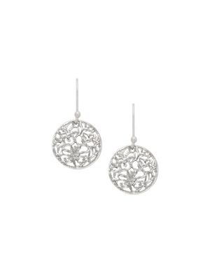 Sterling silver filigree disc earrings by Lane Bryant