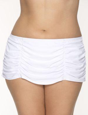 Retro ruched swim skirt