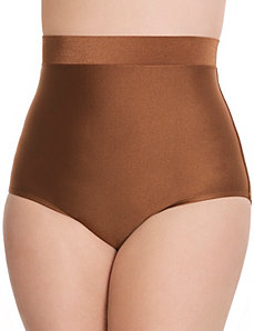 Tummy Control Shimmery high waist swim brief by LANE BRYANT