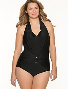 Halter maillot swimsuit by LANE BRYANT