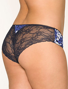 Lace back cheeky panty