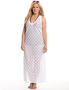 Crocheted maxi swim cover-up by LANE BRYANT