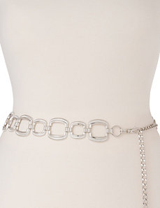 Square chain belt