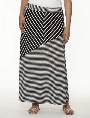 Chevron maxi skirt by Seven7
