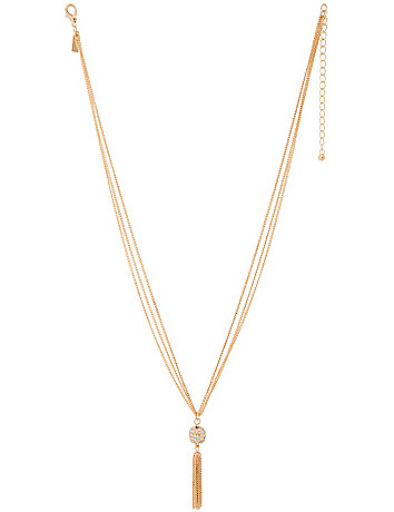 Tasseled fireball necklace by Lane Bryant