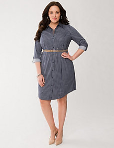Striped shirt dress by LANE BRYANT