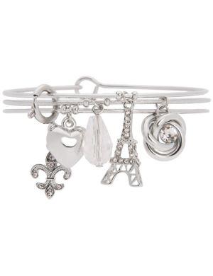 Eiffel Tower charm bracelet trio by Lane Bryant