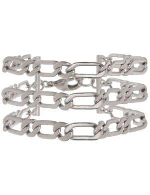 3 row flat link bracelet by Lane Bryant