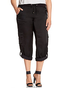 Lane Collection satin cargo pant by LANE BRYANT