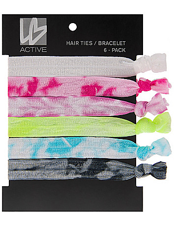Tie-dye hair ties 6-pack by Lane Bryant