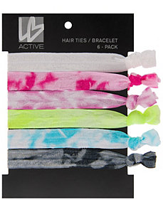 Tie-dye hair ties 6-pack