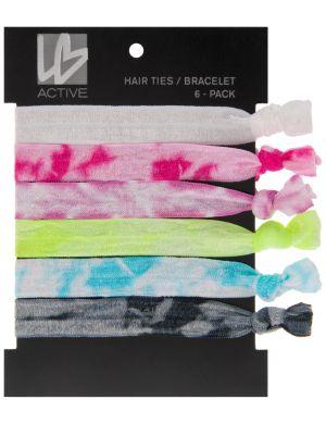 Tie-dye hair ties 6-pack