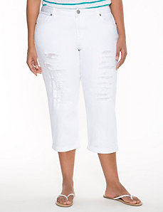 Destructed Weekend capri by LANE BRYANT