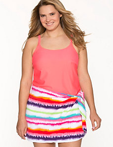 COCOS SWIM striped sarong by LANE BRYANT