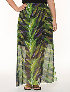 Printed long chiffon skirt by LANE BRYANT