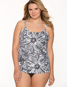 COCOS SWIM floral scoop neck swim tank