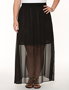 Long chiffon skirt by LANE BRYANT