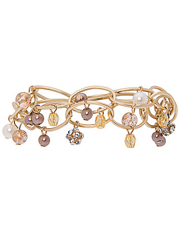 Beaded link bracelet by Lane Bryant