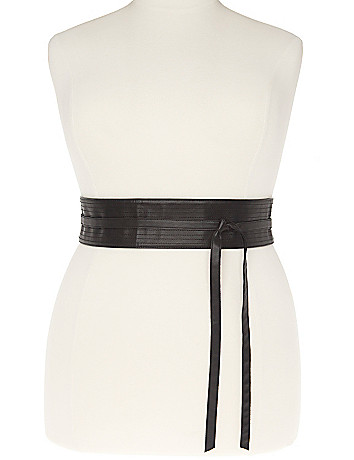 Full Figure Quilted Obi Belt by Lane Bryant