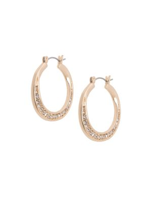 Hoop earrings with cubic zirconium by Lane Bryant