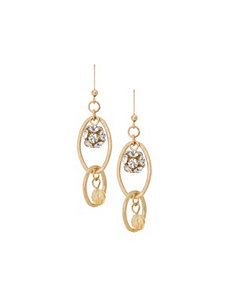 Double link drop earrings by Lane Bryant