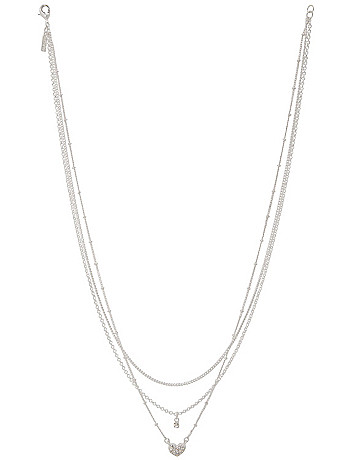 Triple chain heart necklace by Lane Bryant