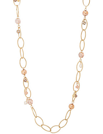 Beaded link necklace by Lane Bryant
